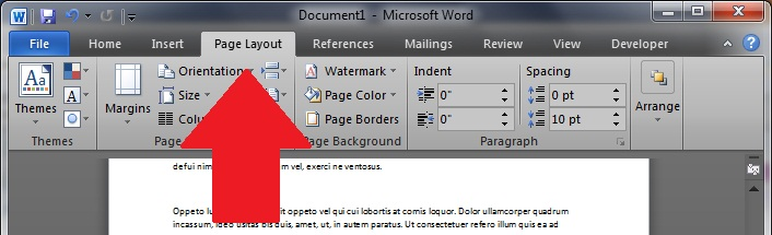 Changing Print Margins In Microsoft Word 2010